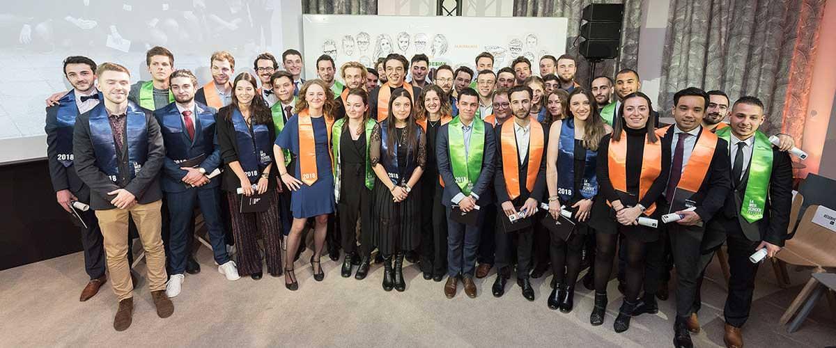 cérémonie diplômes Promotion 2018 Web School Factory