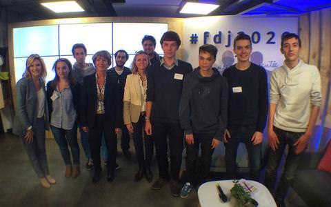La Française des Jeux et étudiants web school factory