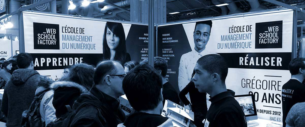 Salon de l 39 etudiant de paris 2016 web school factory for Porte ouverte salon de l etudiant