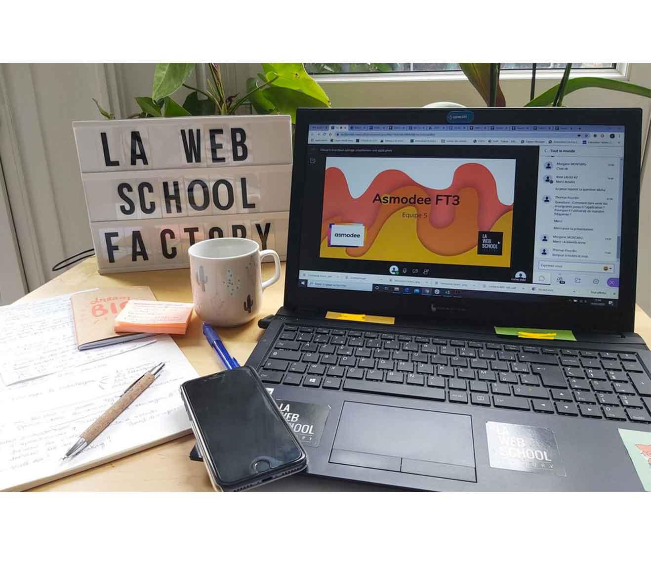 La Web School en visioconférence