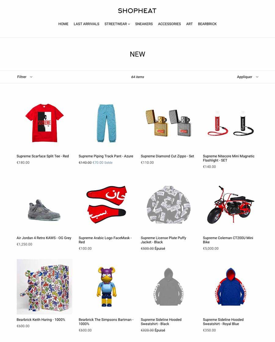 Massine Benoukaci boutique en ligne