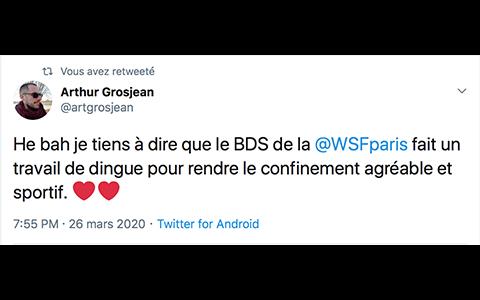Tweet Arthur Grosjean