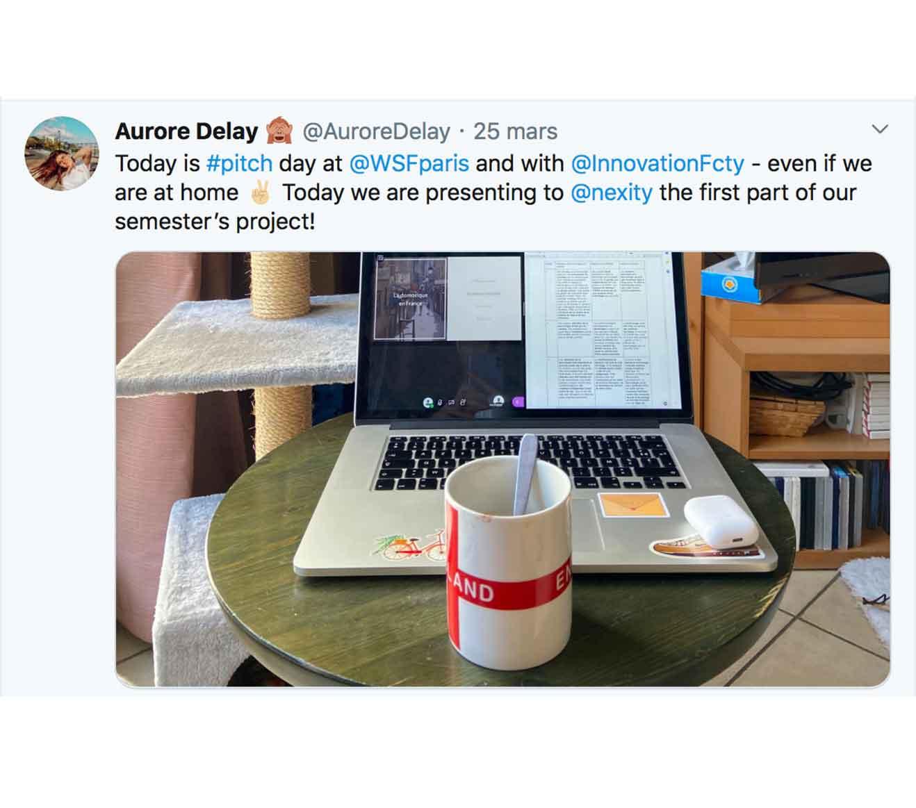 Tweet Aurore Delay